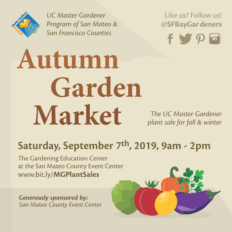Promotional graphic for Autumn Garden Market 2019