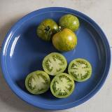 Green Zebra Tomato - Sweet, Zingy - good for foggy areas